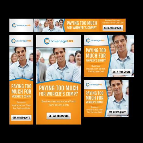 Developer New Banner Ads For A Commercial Insurance Company Banner Ad Contest 99designs