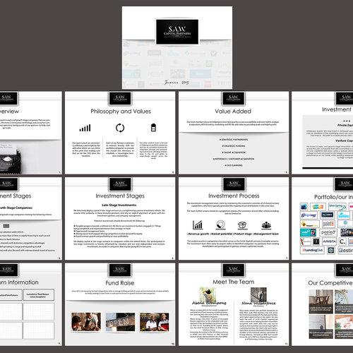 Redesign powerpoint presentation for a venture capital firm