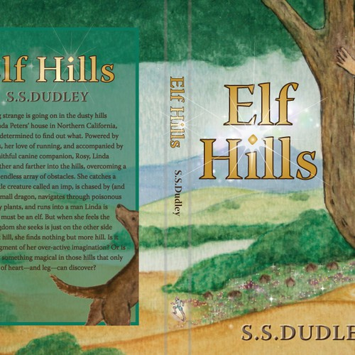 Book cover for children's fantasy novel based in the CA countryside Design by -carmayken-
