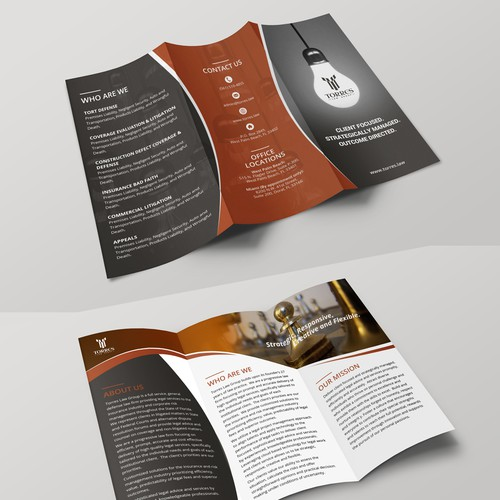 TriFold Brochure For Contemporary Law Firm  Brochure Contest