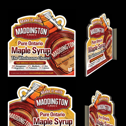 Maddington Farms Rack Card for the Health Benefits of Pure Maple Syrup Design by jay000