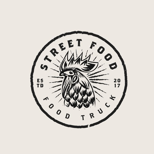 Create a trendy, vintage-inspired logo for a new Food Truck! Diseño de CBT