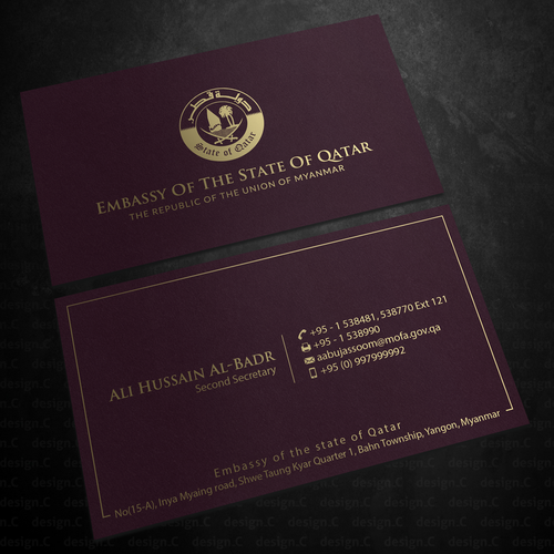Elegant And Luxury Business Card Design Business Card Contest 99designs