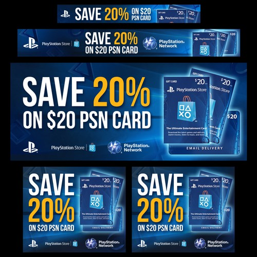 Create Playstation Network 20 Card Banners Banner Ad Contest 99designs