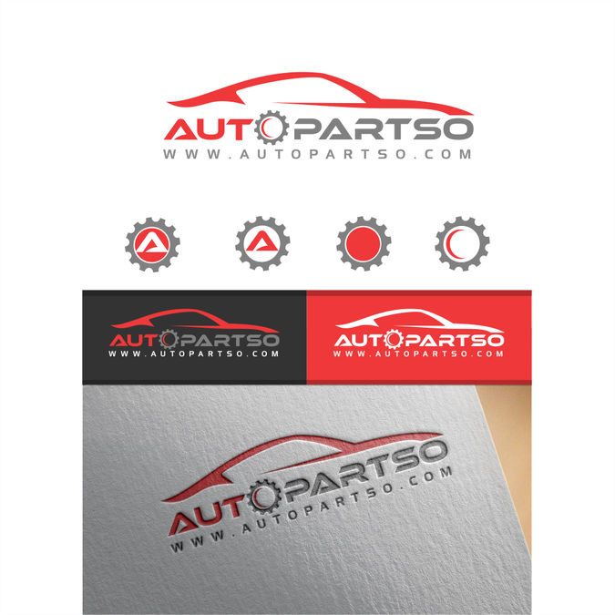 Logo Design For An Auto Parts Website Autopartso Logo Design
