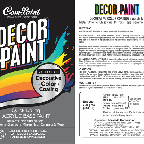 Car Paint Aerosol Spray