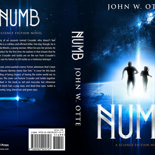 Most Creative Book Covers : Numb an explosive science fiction thriller needs your