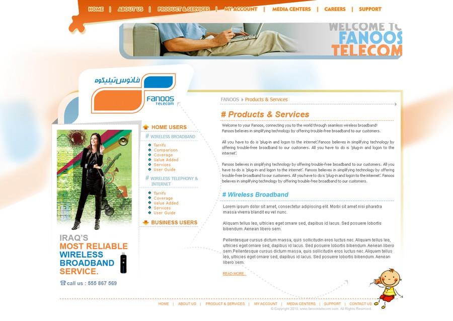 Design gagnant de webline