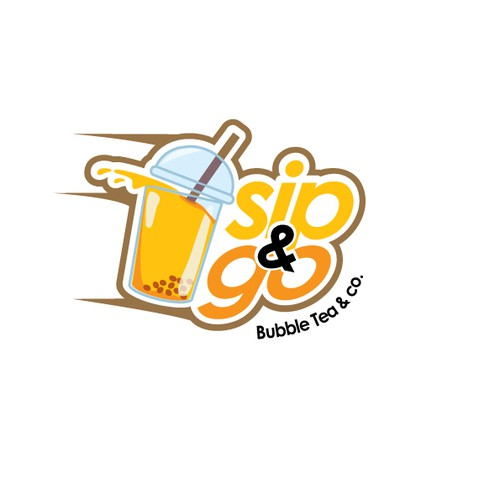 Bubbly Design Co: Logo: Bubble Tea