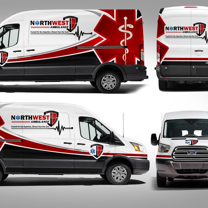 911 Ambulance wrap on sprinter | Car, truck or van wrap contest