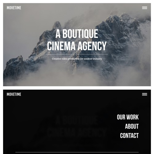 Video Production Company Website // Simplistic Design Design by don-armagadon