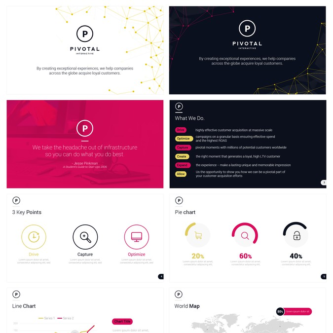 create media kit for cutting edge modern advertising marketing company powerpoint template. Black Bedroom Furniture Sets. Home Design Ideas