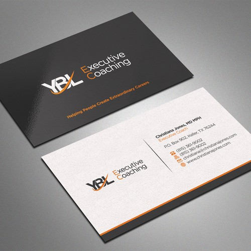 Create a high end business card for executive coaching business runner up design by bagazz reheart Choice Image