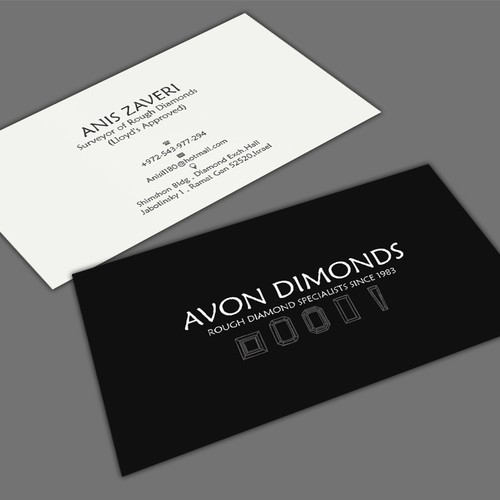 High class business card for diamond consultant business card contest runner up design by mahari colourmoves