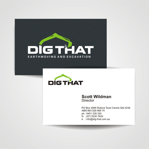 Exciting fresh and unique logo and business card for dig that entries from this contest colourmoves