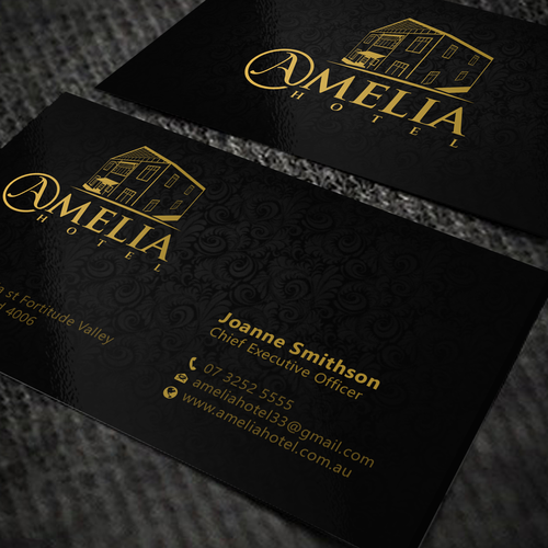 Amelia hotel business cards business card contest runner up design by oeingartmindz colourmoves