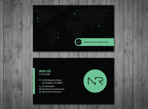 Fashion business card design in Los Angeles
