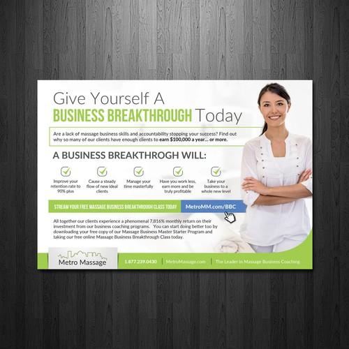 Create a creative Print Ad For a Health Magazine | Postcard, flyer