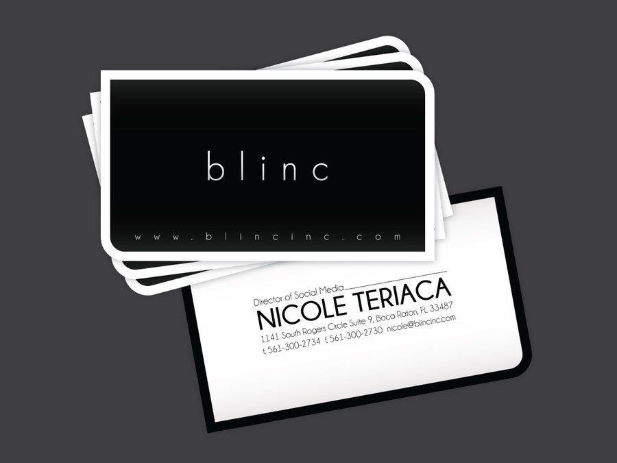 business card for blinc Inc. Cosmetics | Business card contest