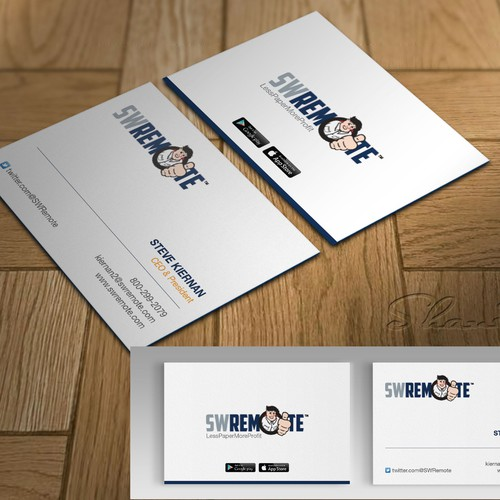 Contemporary Business Card for Mobile Technology Company ...
