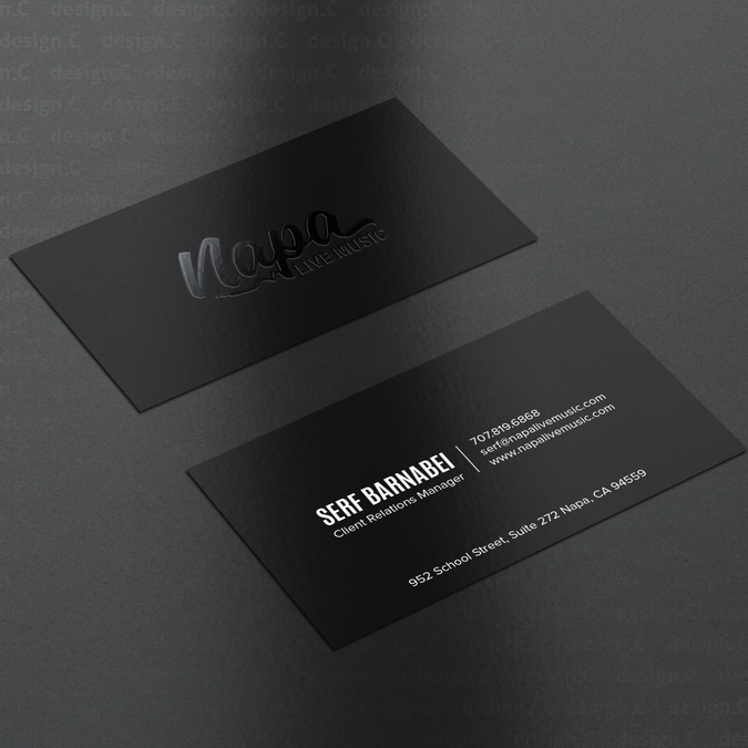 Business Card For Music Industry Contest