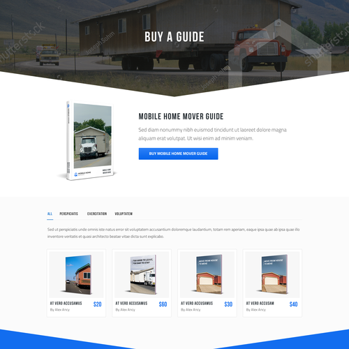 Mobile Home Moving MARKETPLACE   Web page design contest