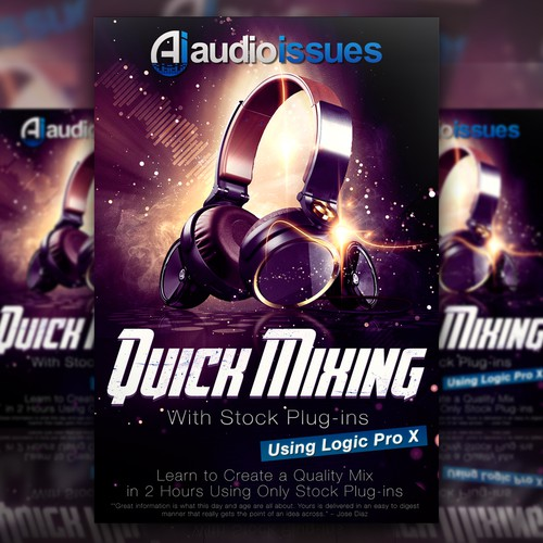 Create a Music Mixing Poster for an Audio Tutorial Series Design by Designs_DK