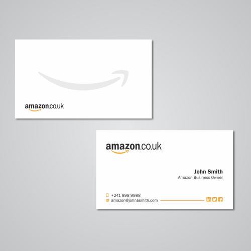 Business card design for amazon business owner business card contest runner up design by maryo art reheart Images