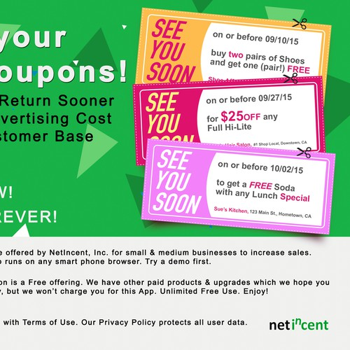 Merchants coupons