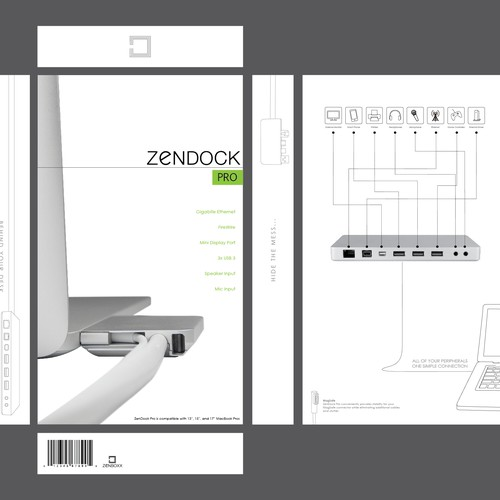 Zenboxx - Beautiful, Simple, Clean Packaging. $107k Kickstarter Success! Design by zcallaway