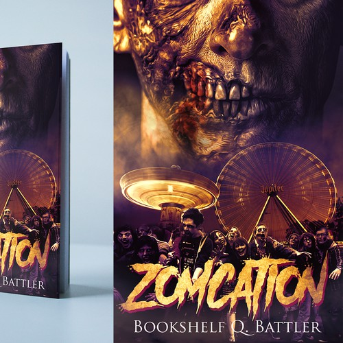 Zomcation (Cover for a book about zombies at an amusement park) Design by mihai313