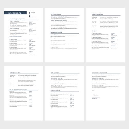 design a cv  resume