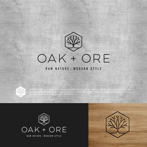 Design a modern logo for hand crafted wood and metal ...