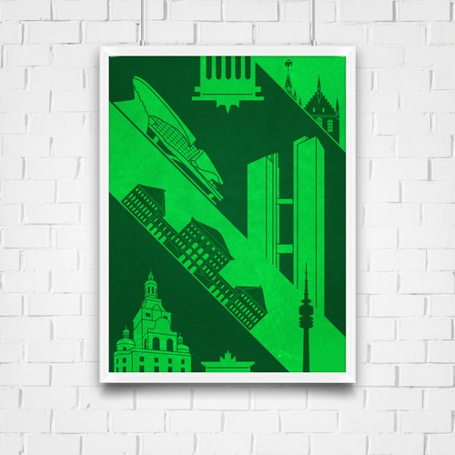 99d Community Contest: Create a poster for the beautiful city of Munich (MULTIPLE WINNERS!) Design by skraværn