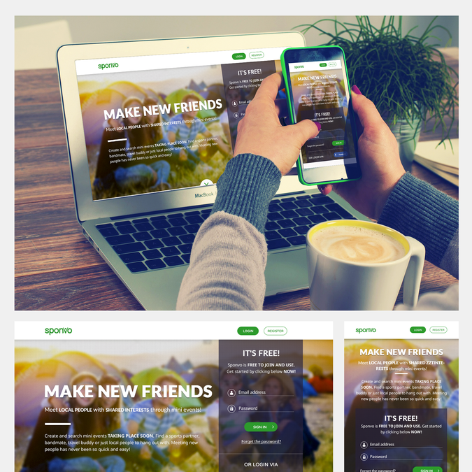 ✩ Creative, imaginative, fun and friendly landing page for