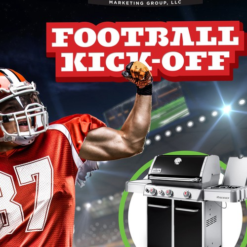 Design Promo Flyer that incorporates a football kickoff theme Ontwerp door cronodesigns