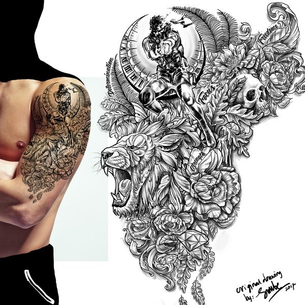 Upper Arm Half Sleeve Tattoo Tattoo Contest 99designs