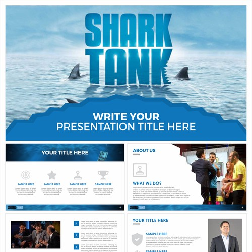 enter the shark tank powerpoint template contest パワーポイントコンペ