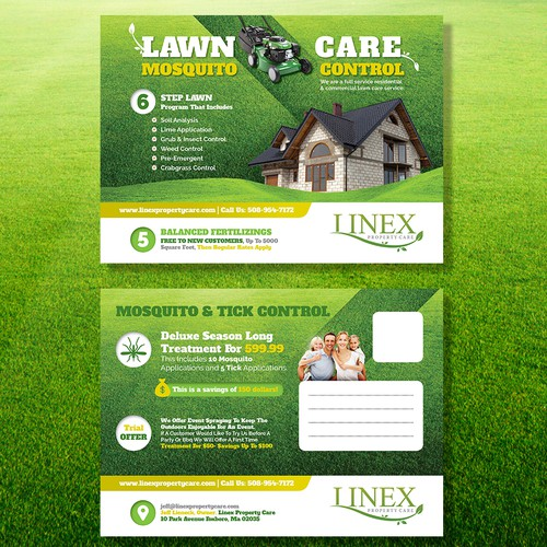 Lawn Care/ Mosquito Control Postcard . Must Be EDDM READY