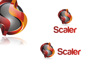 logo and business card for Scaler