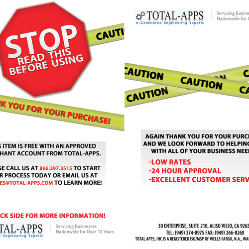 New postcard or flyer wanted for Total-Apps | Postcard, flyer or