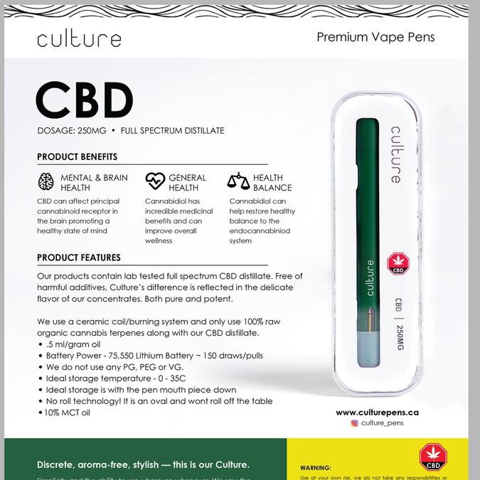 New Premium Vape Pen Sell Sheets | Concours: carte postale