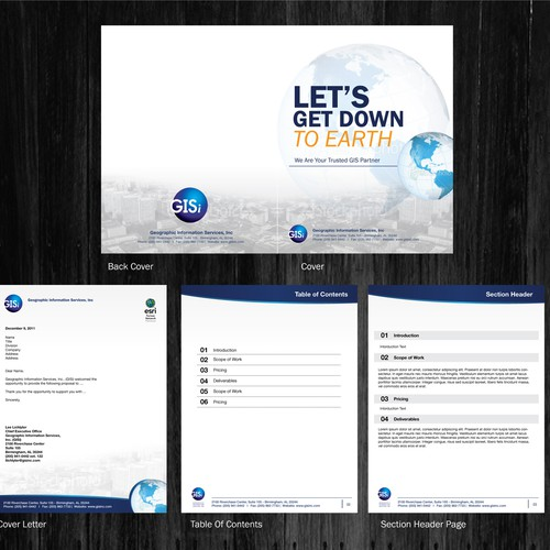 Proposal Template Design For It Gis Consulting Firm Print Or