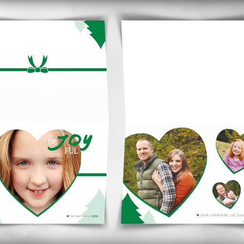 Create a Beautiful Holiday Card Template - Merry Christmas! | Karte oder Einladung Wettbewerb