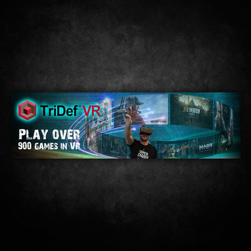 design a cool vr gaming banner banner ad contest