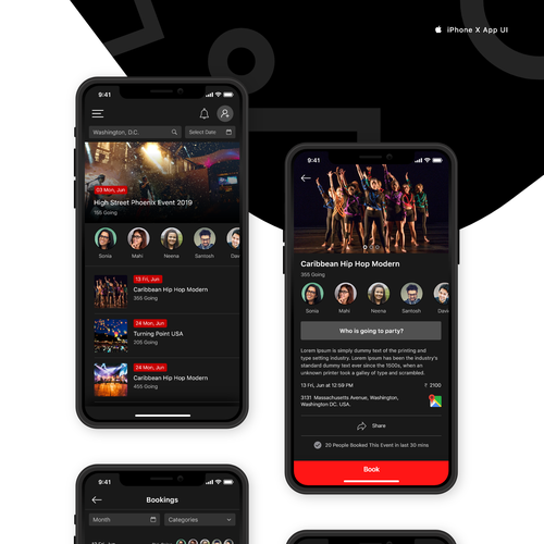 Exclusive Nightlife App | App design contest