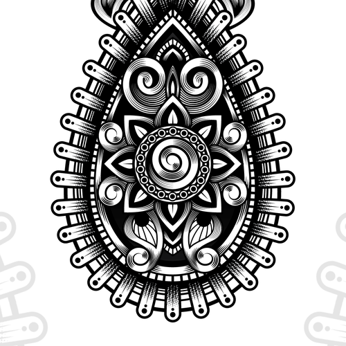 Custom mandala tattoo for lower arm that tells a family for Unique design milano