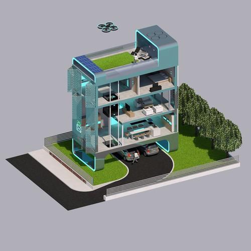 Runner-up design by Zisidis