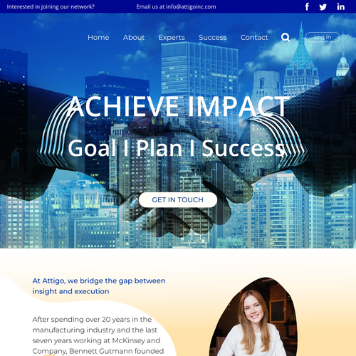 create website for management consulting firm | Web page