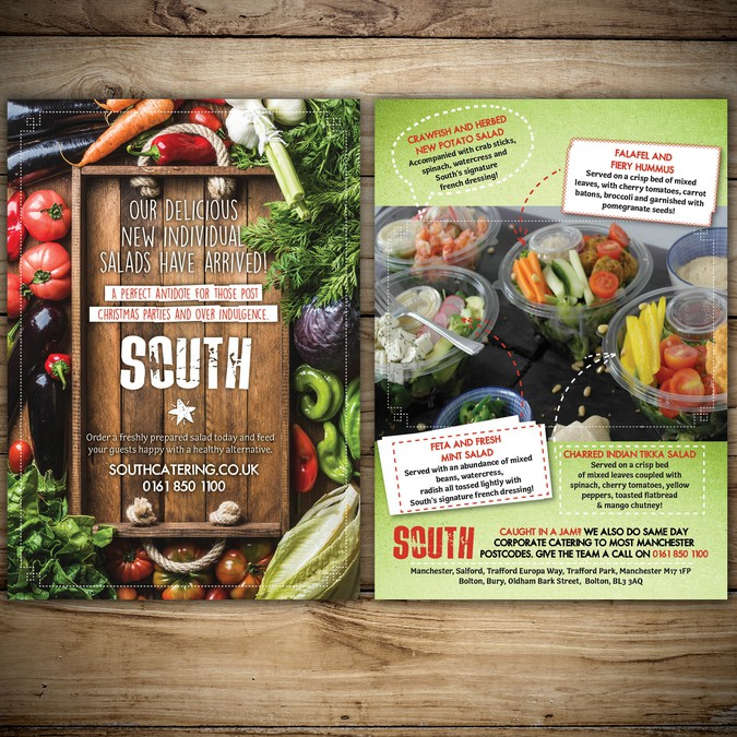 Flyer For Healthy Food Catering Promotion Postcard